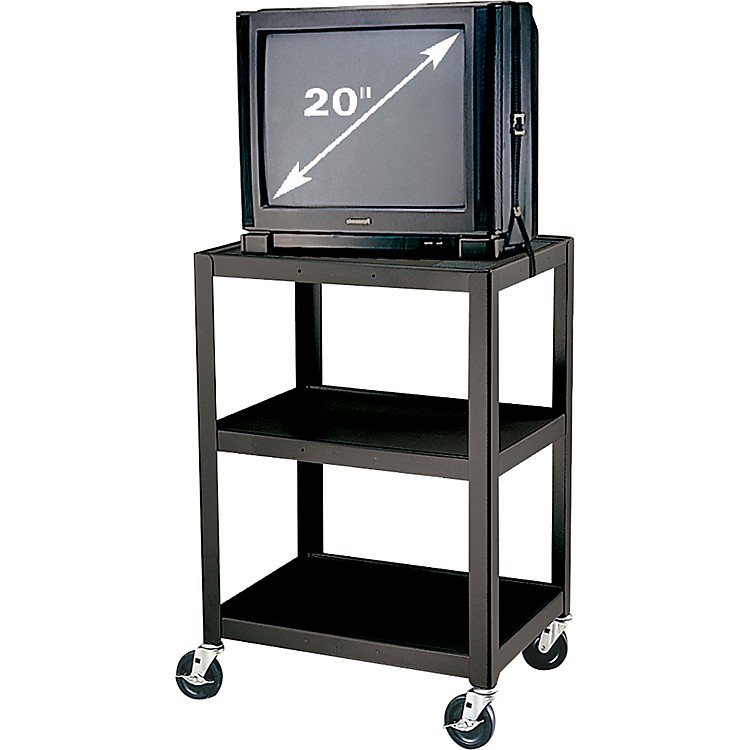 H Wilson Metal 34 Quot 3 Shelf Cart Black Music123