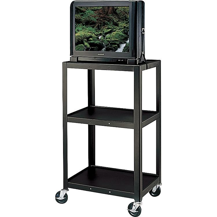H Wilson Metal 42 Quot 3 Shelf Cart Black Music123