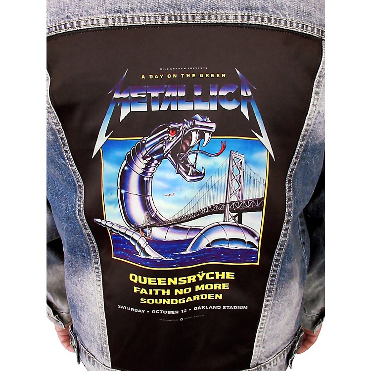 Dragonfly Clothing Metallica - A Day On The Green - Womens Denim Jacket Small