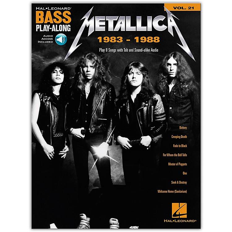 Hal LeonardMetallica: 1983-1988 Bass Play-Along Volume 21 Book/Audio Online