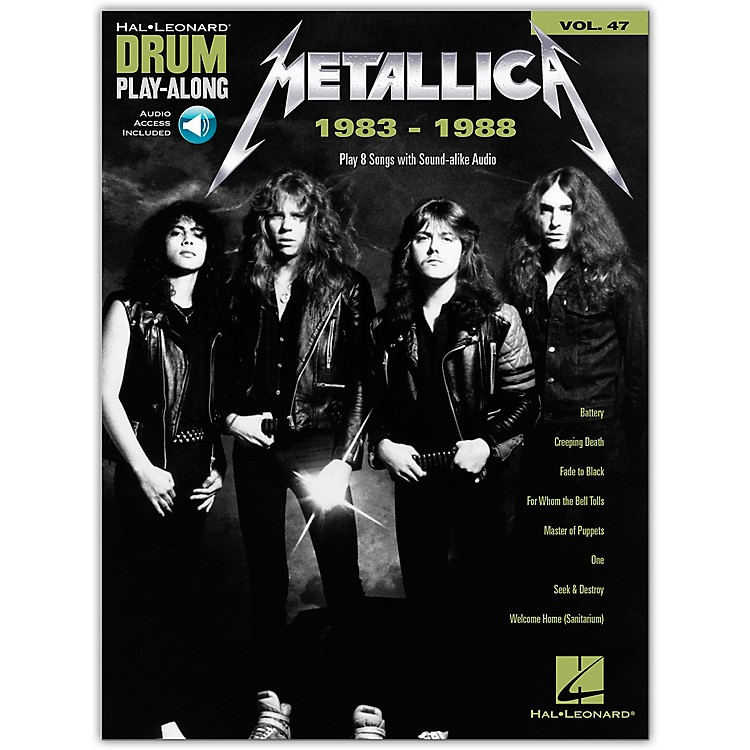 Hal LeonardMetallica: 1983-1988 Drum Play-Along Volume 47 Book/Audio Online