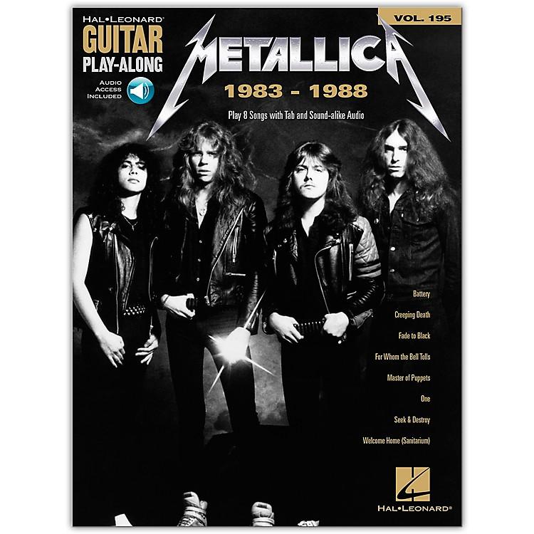 Hal LeonardMetallica: 1983-1988 Guitar Play-Along Volume 195 Book/Audio Online