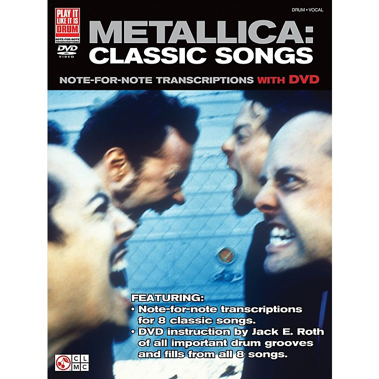 Cherry Lane Metallica Classic Songs For Drum - Note For Note Transcriptions with DVD
