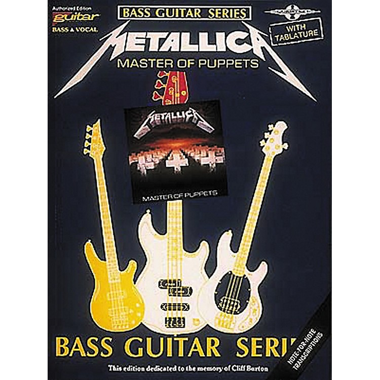 Hal LeonardMetallica Master of Puppets Bass Guitar Tab Songbook