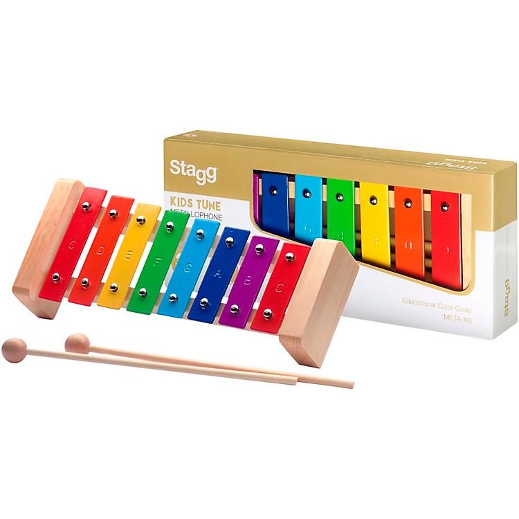 StaggMetallophone with 8 Rainbow Keys