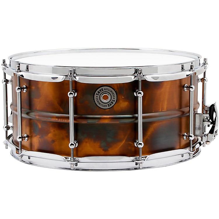 Taye DrumsMetalworks Vintage Brass Snare14 x 6.5Patina Finish