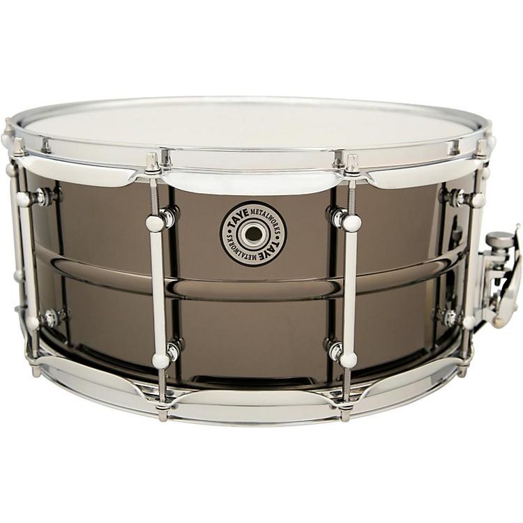 Taye DrumsMetalworks Vintage Brass Snare14 x 6.5Black Nickel Finish