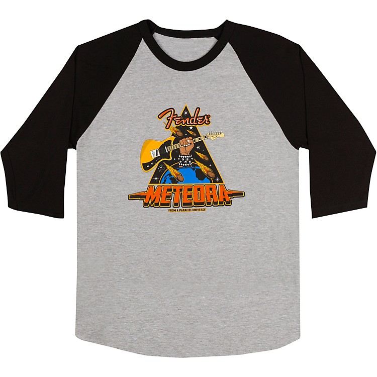 FenderMeteora Raglan T-ShirtX LargeBlack/Gray