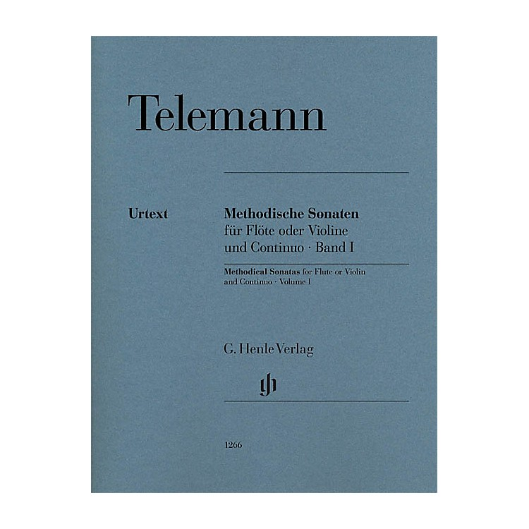G. Henle VerlagMethodical Sonatas for Flute or Violin and Continuo - Volume 1 Henle Music Softcover by Telemann