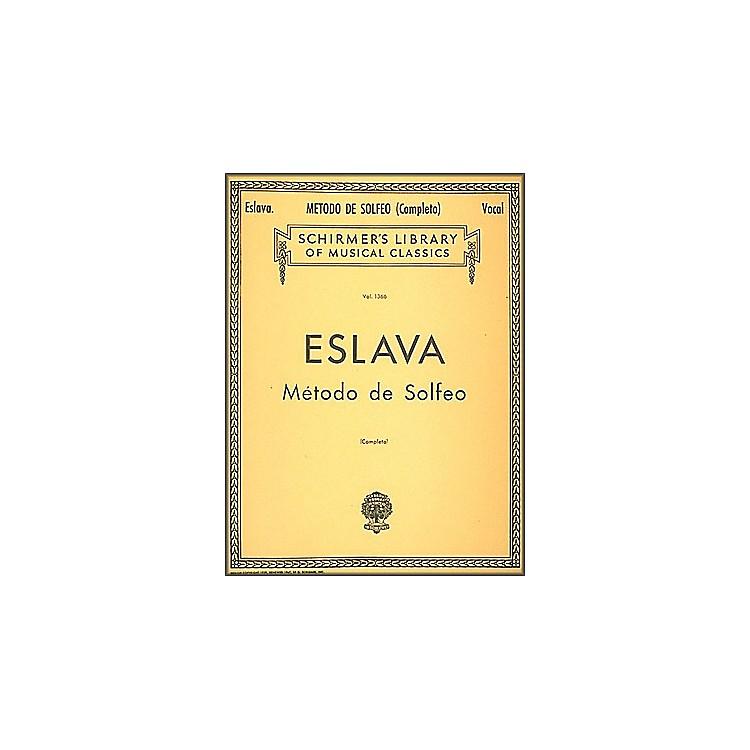 G. SchirmerMetodo de Solfeo - Complete by Eslava for Voice