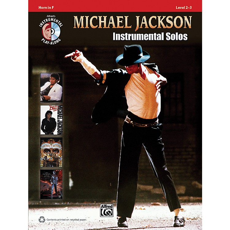 Alfred Michael Jackson Instrumental Solos Horn in F Book & CD