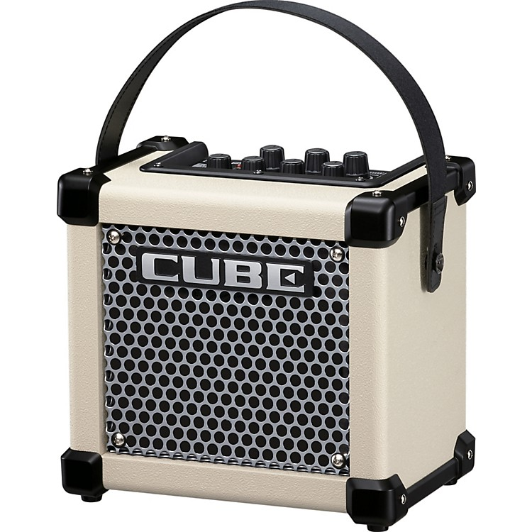 Roland Micro Cube GX 3W 1x5 Battery Powered Guitar Combo Amp White
