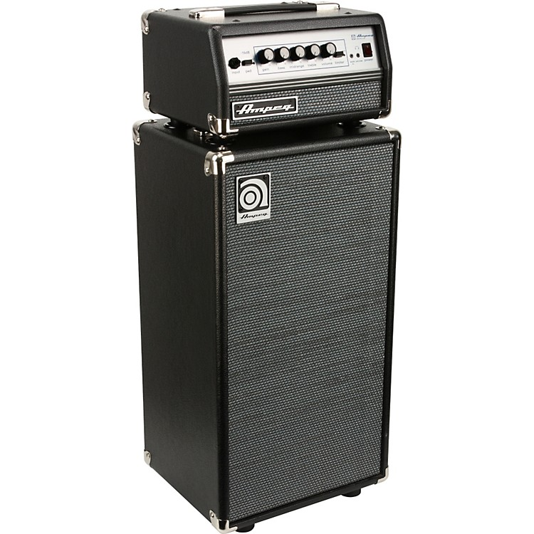 Ampeg Micro-VR Bass Amp Head and SVT210AV Bass Speaker Cabinet Stack
