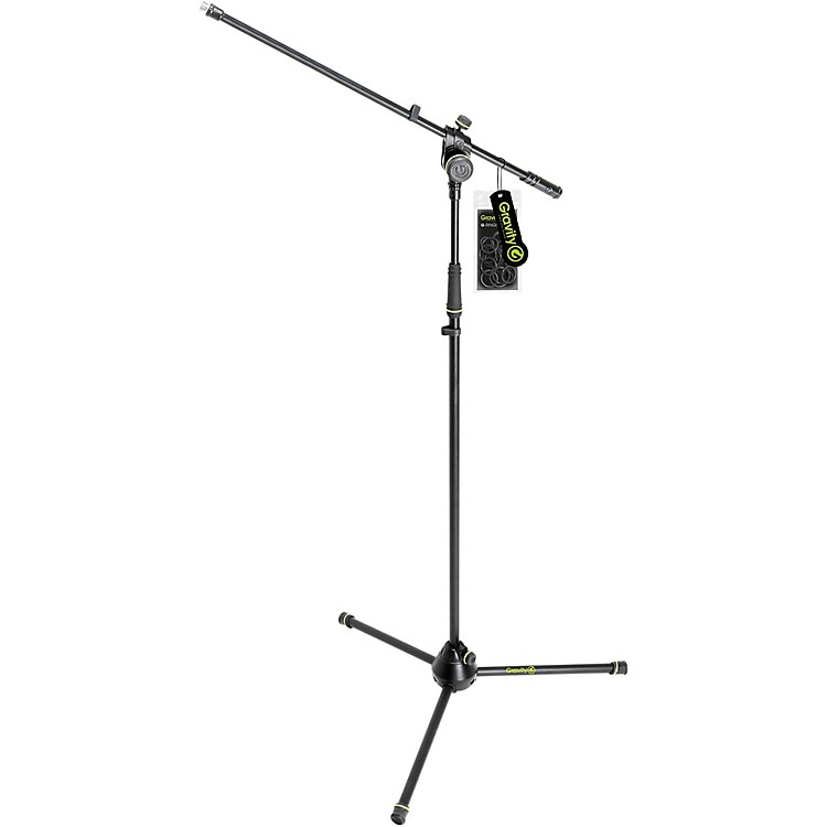 Gravity StandsMicrophone Stand With Folding Tripod Base 2-Point Adjusting Boom