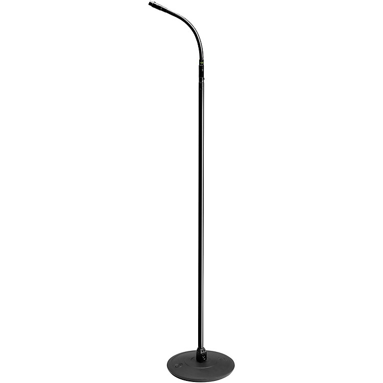 Gravity StandsMicrophone Stand With Round Base, XLR Connector and Gooseneck
