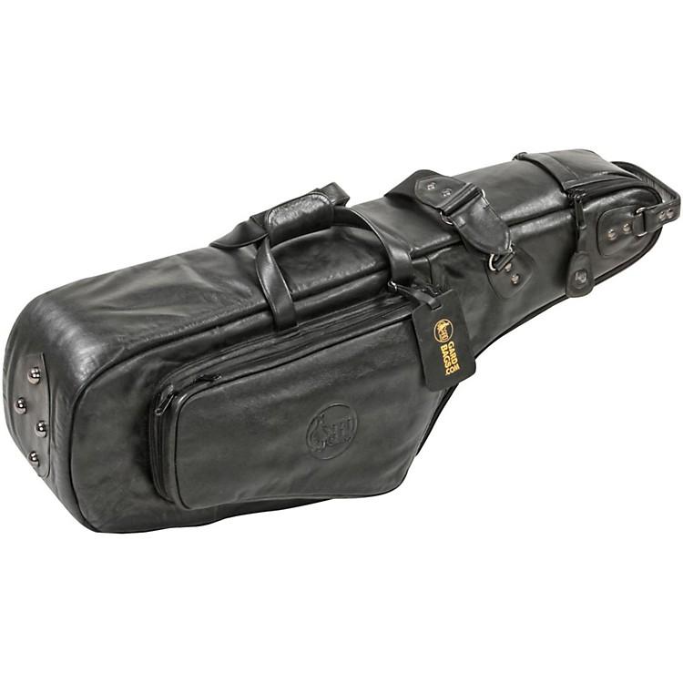 GardMid-Suspension EM Wide Neck Pocket Tenor Saxophone Gig Bag112-MLK BlackUltra Leather