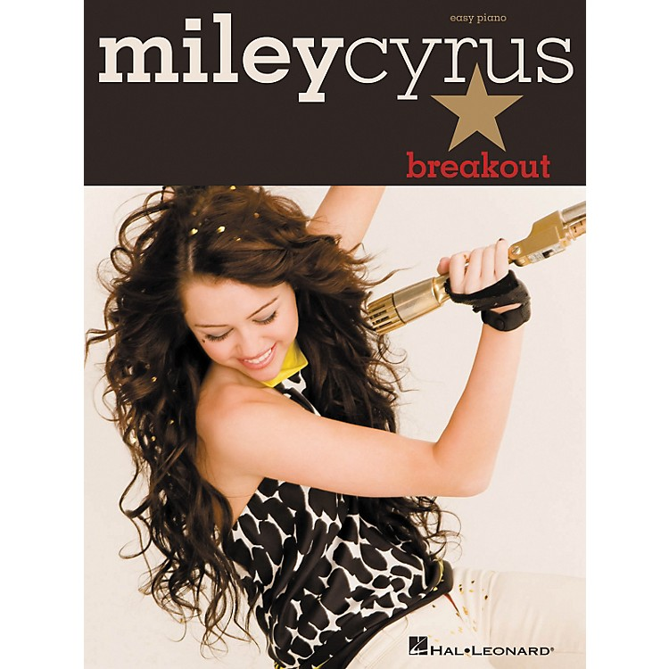 Hal Leonard Miley Cyrus - Breakout For Easy Piano