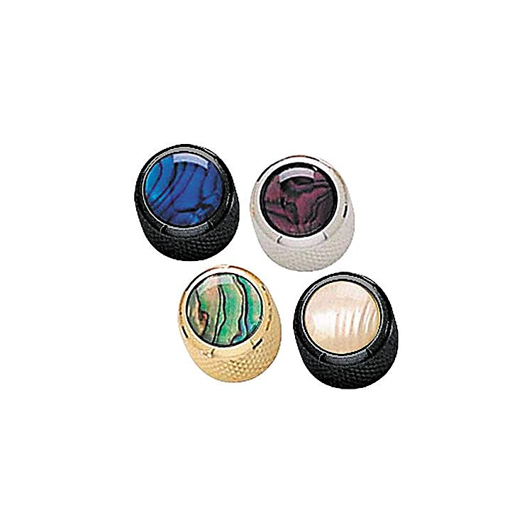Q PartsMini-Dome Knob SingleChromeBlue Abalone