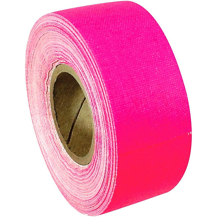 American Recorder TechnologiesMini Roll Gaffers Tape 1 In x 8 Yards Florscent ColorsNeon Pink