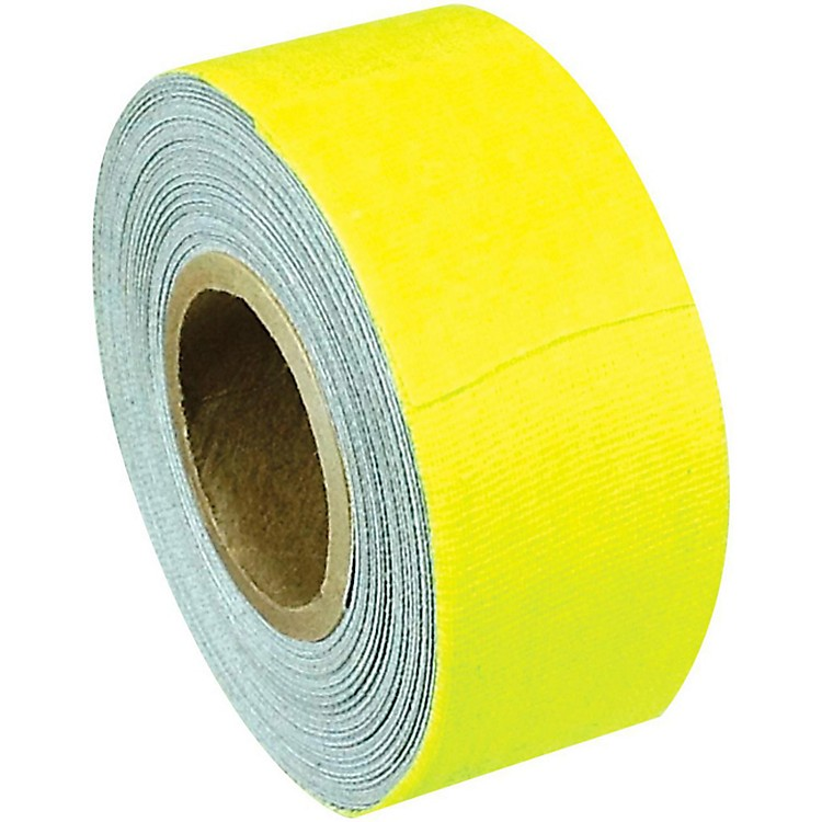 American Recorder Technologies Mini Roll Gaffers Tape 1 In x 8 Yards Florscent Colors Neon Yellow
