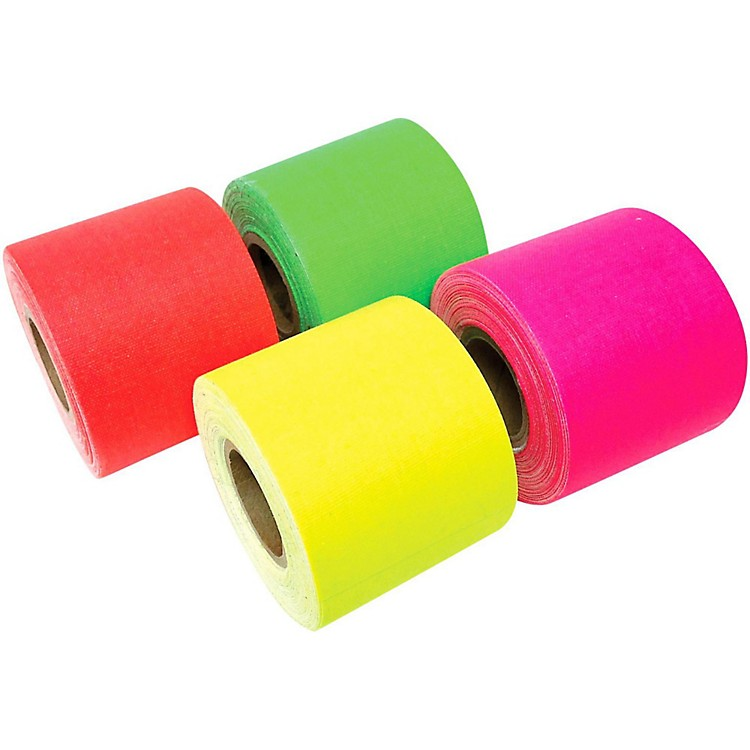 American Recorder TechnologiesMini Roll Gaffers Tape 2 In x 8 Yards - Green, Yellow, Pink, Orange