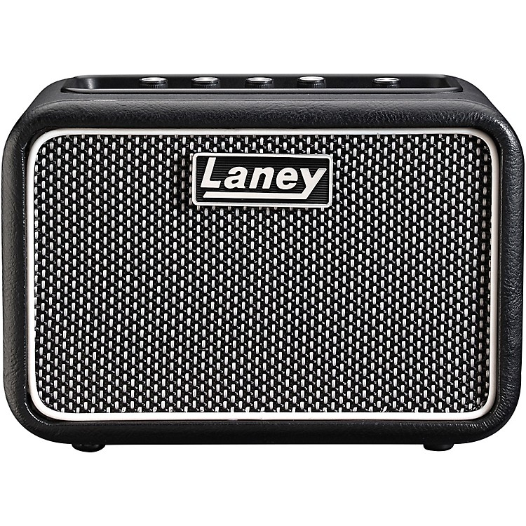 Laney Mini-St-SuperG 2x3W Stereo Battery-Powered Guitar Amp Black and Silver