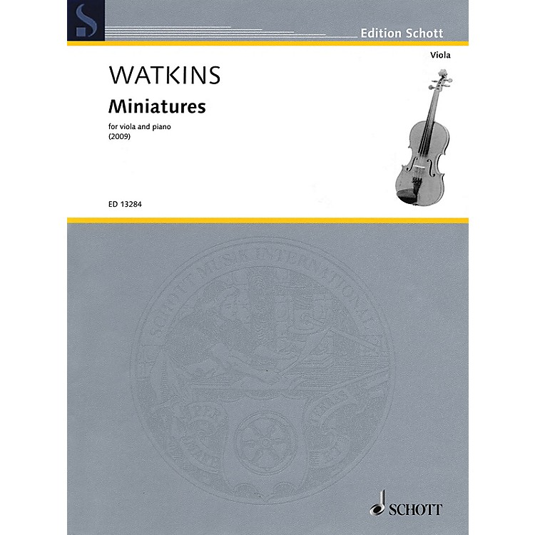 SchottMiniatures (Viola and Piano) Schott Series Softcover Composed by Huw Watkins