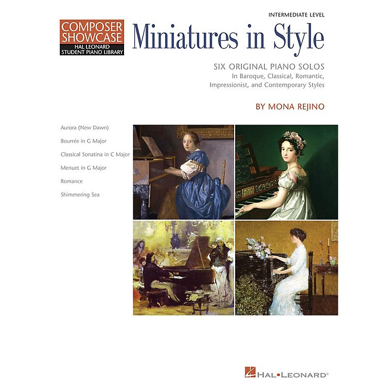 Hal LeonardMiniatures in Style Piano Library Series Book by Mona Rejino (Level Inter)