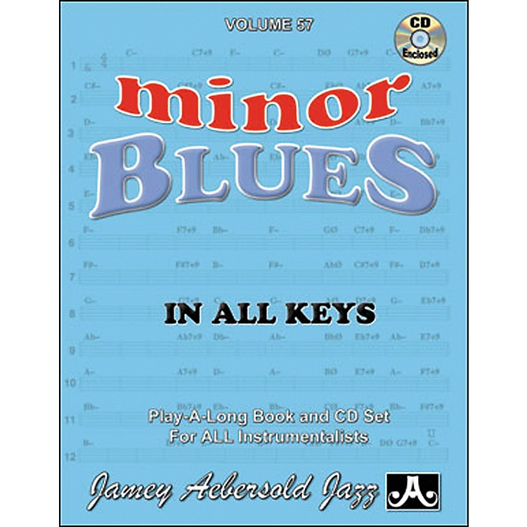 Jamey Aebersold Minor Blues In All Keys Play-Along Book and CD