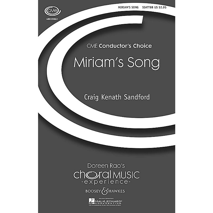 Boosey and HawkesMiriam's Song (CME Conductor's Choice) SSATTBB composed by Craig Kenath Sandford
