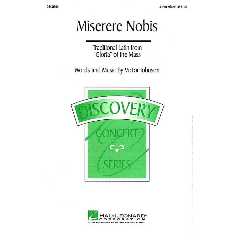 Hal LeonardMiserere Nobis 3-Part Mixed composed by Victor C. Johnson