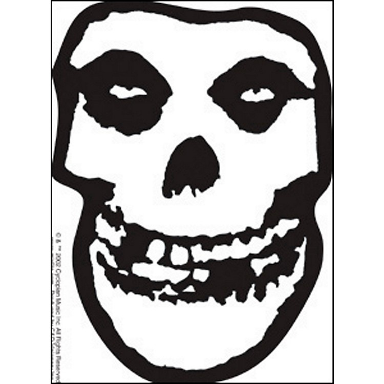 C&D Visionary Misfits Skull Sticker