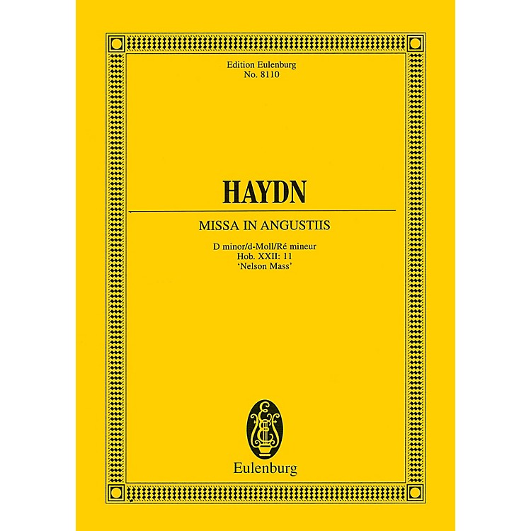 EulenburgMissa in Angustiis ('Nelson Mass') Study Score Series Softcover Composed by Joseph Haydn