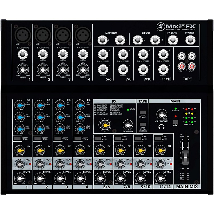 MackieMix12FX 12-Channel Compact Mixer with Effects
