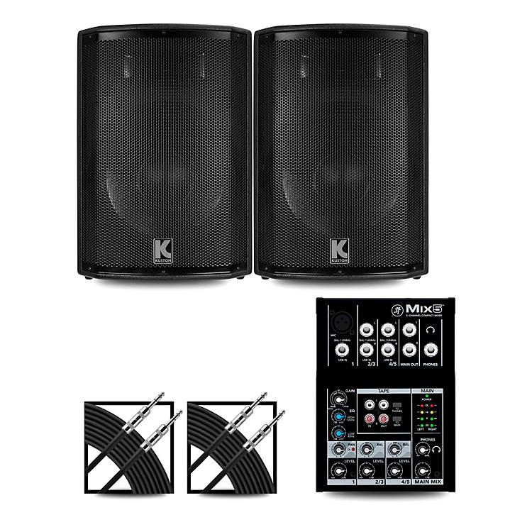 MackieMix5 Mixer and Kustom HiPAC Speakers12