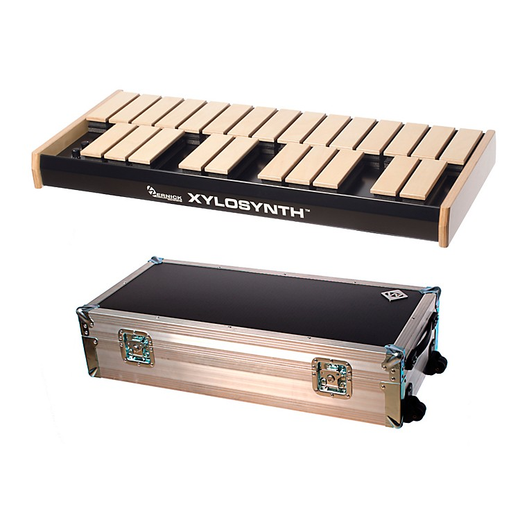 Wernick MkVI Blonde Birch Xylosynth w/Button Control, LED Display, Flight Case and Accessories