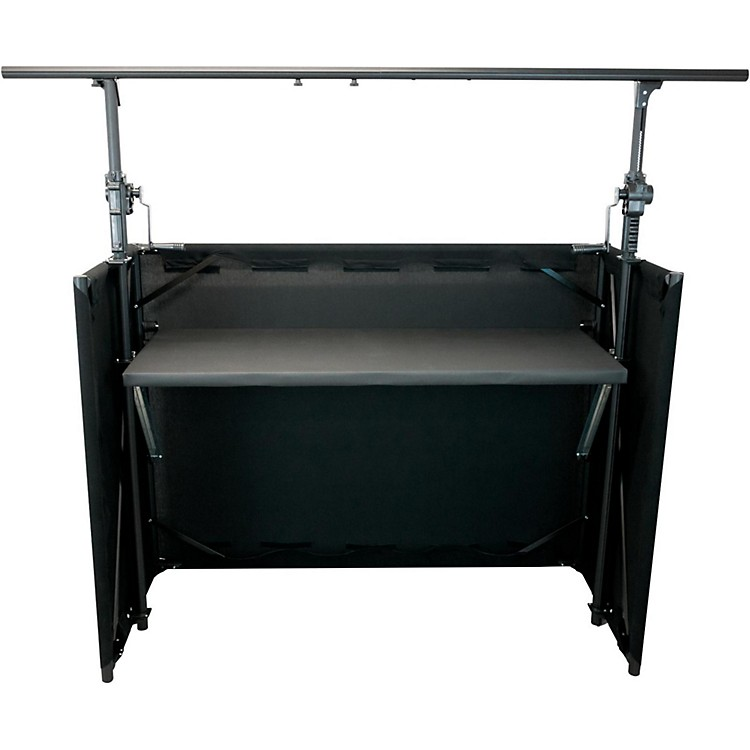 GLOBAL TRUSSMobile DJ Table with Black Facade and Crank System Truss