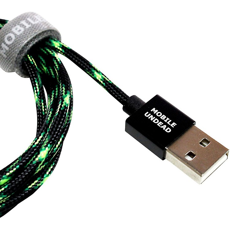 Tera GrandMobile Undead - USB 2.0 A to Micro B Zombie Braided Cable5 ft.