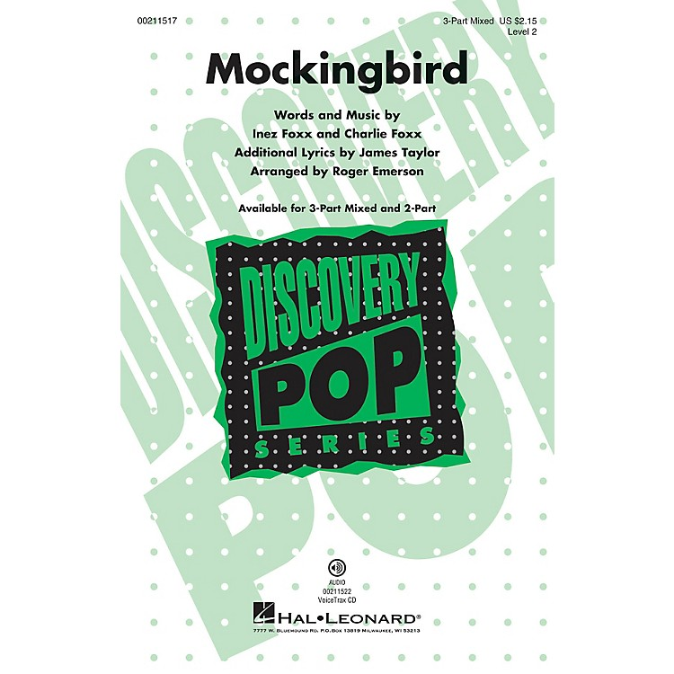 Hal LeonardMockingbird (Discovery Level 2) 3-Part Mixed arranged by Roger Emerson