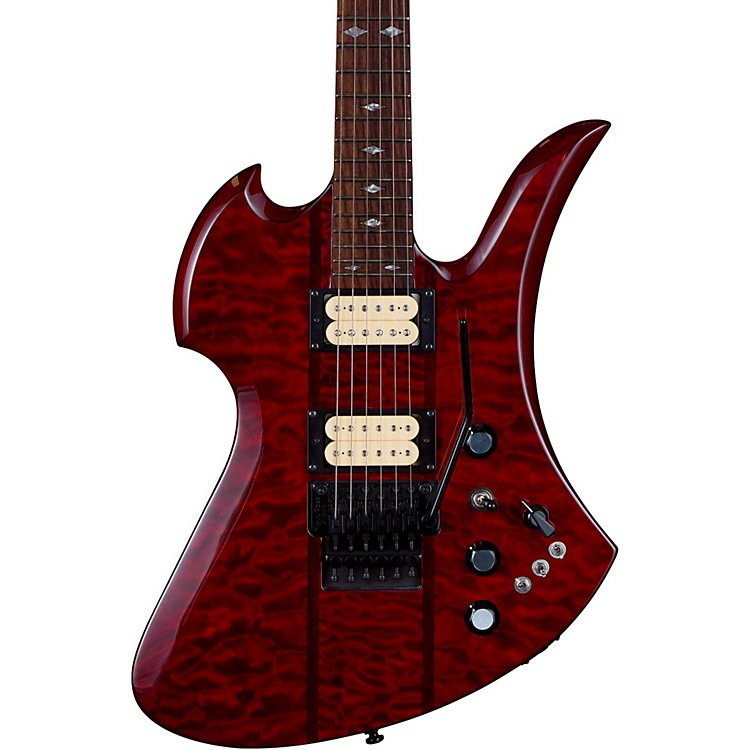 B.C. Rich Mockingbird Neck Through with Floyd Rose and DiMarzios Electric Guitar Transparent Black Cherry