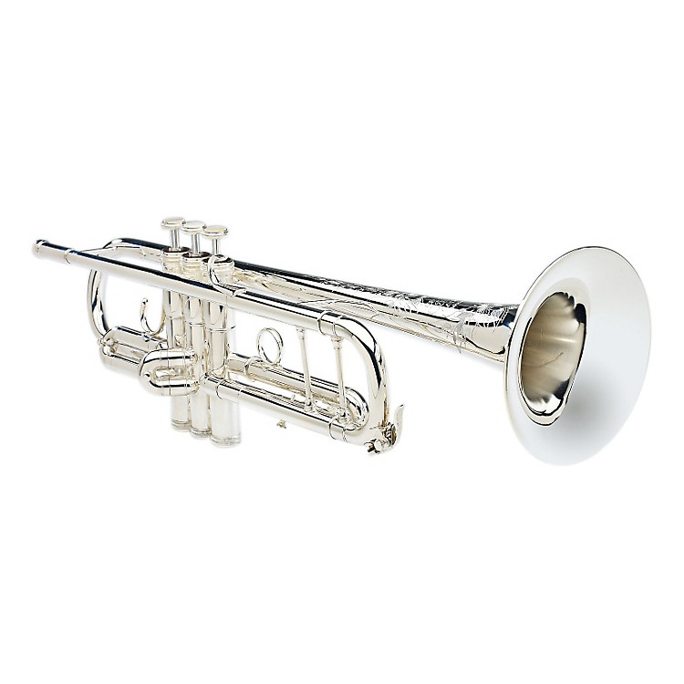 S.E. SHIRES Model B Bb Trumpet B-SP Silver 888365832616