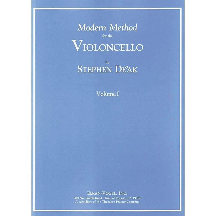Carl FischerModern Method For The Violoncello