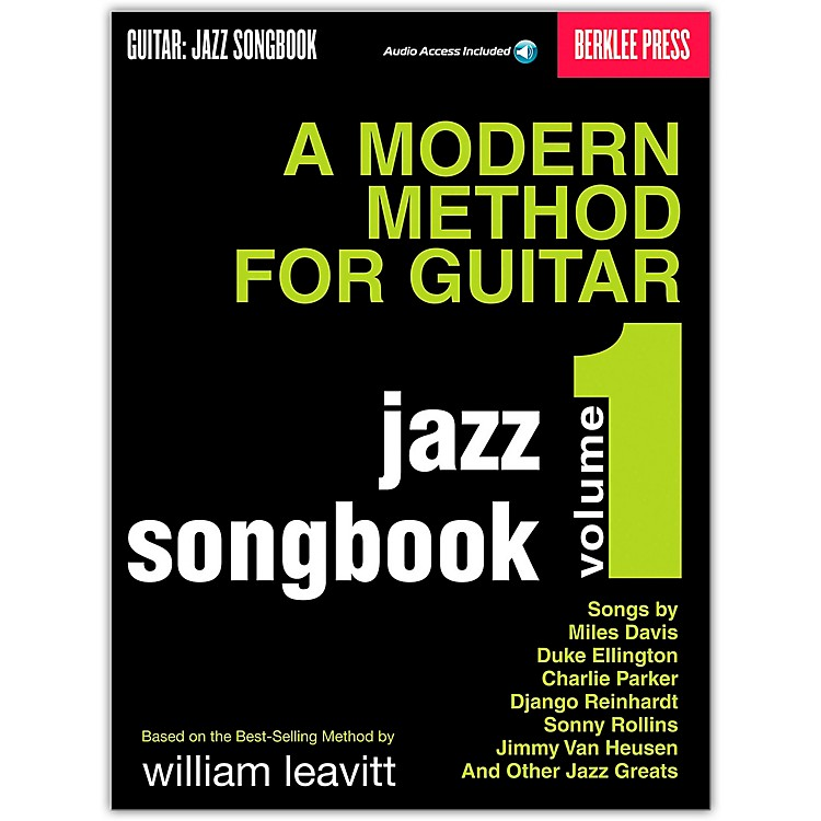 Berklee Press Modern Method for Guitar SongBook/Online Audio: Jazz Book/Online Audio