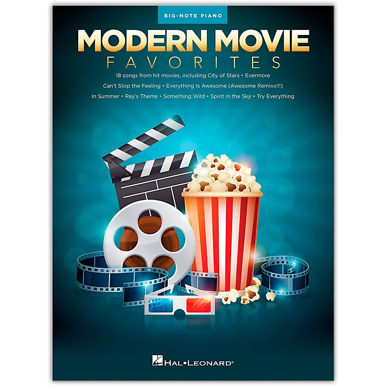 Hal Leonard Modern Movie Favorites for Big Note Piano