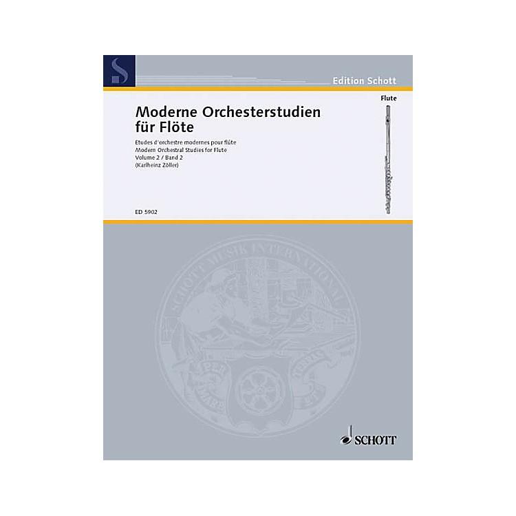 SchottModern Orchestral Studies for Flute - Vol. 2 Schott Series Softcover