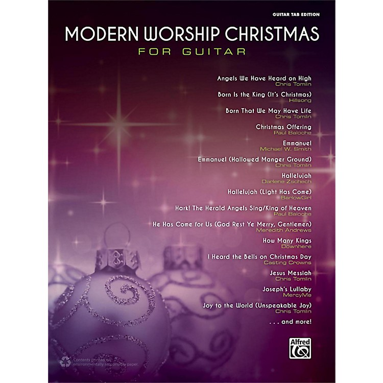 Alfred Modern Worship Christmas for Guitar Songbook Guitar TAB Edition