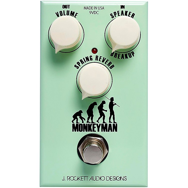 Rockett PedalsMonkeyman Overdrive and Reverb Effects Pedal