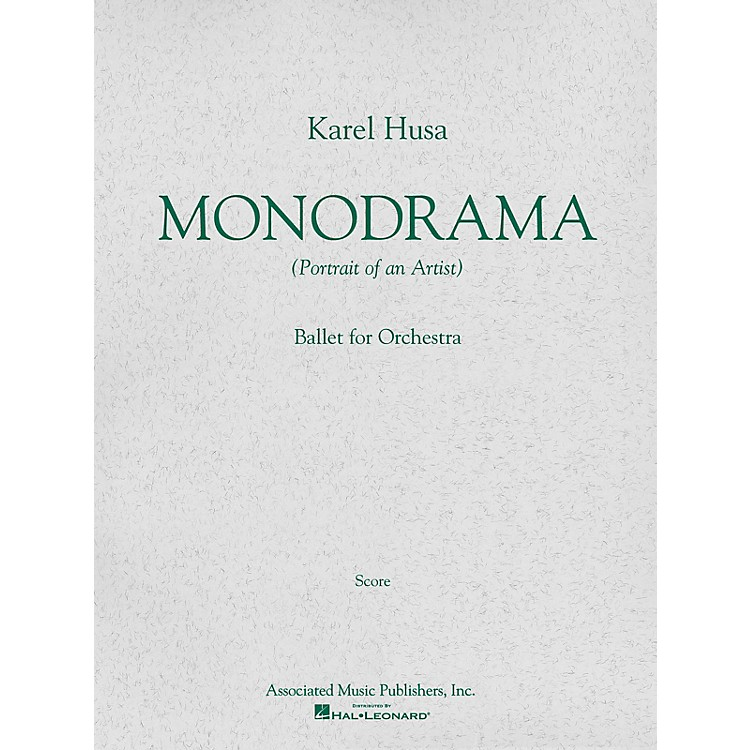AssociatedMonodrama (Portrait of an Artist) (Miniature Full Score) Study Score Series Composed by Karel Husa