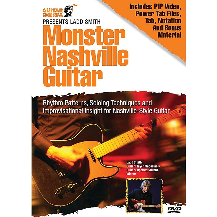 Music Sales Monster Nashville Guitar (Guitar Sherpa Presents) Music Sales America Series DVD Written by Ladd Smith