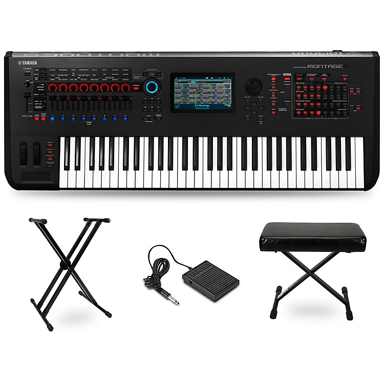 Yamaha Montage 61-Key Synthesizer Essentials Kit Black